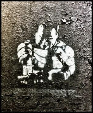 Street graffiti (inspired by Banksy?)