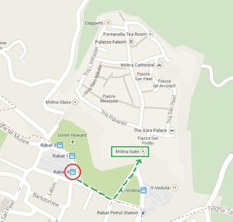 Map of Mdina