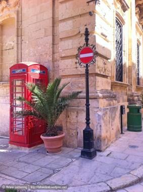 British style phone booth in Mdina