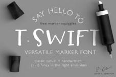 t-swift-font-hello-f