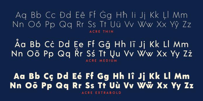 Acre Font Family