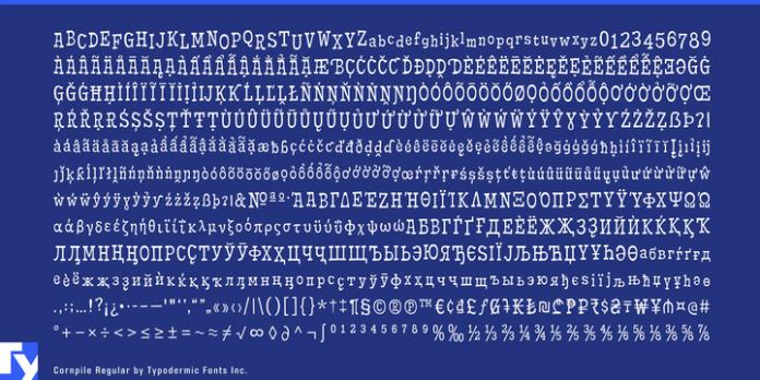 Cornpile Font Family
