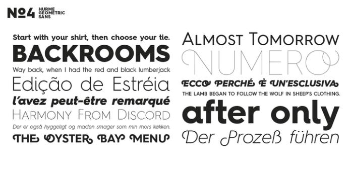 Hurme Geometric Sans Font Family