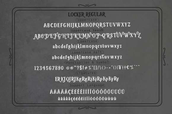 Lockers Typeface