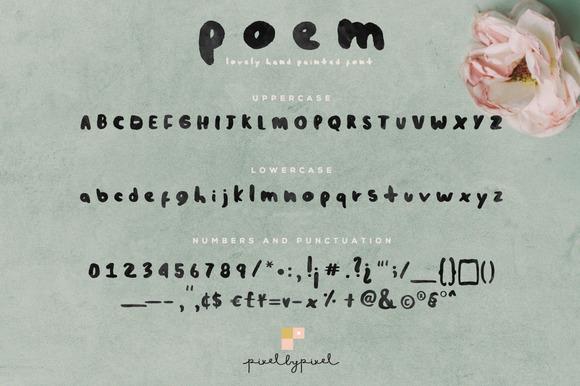 Poem Font + Bonus