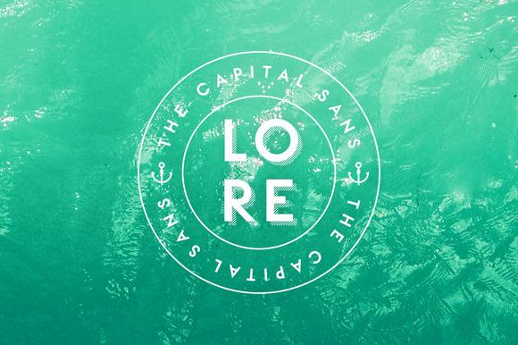 LORE - Geometric Capital Font