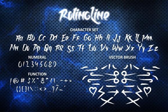 Rolingline (Extra Vector Brush)