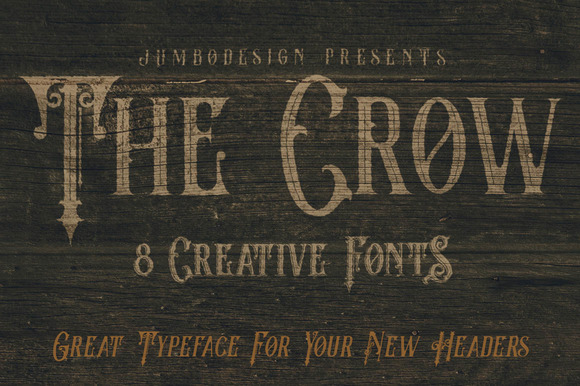 The Crow - Vintage Style Font