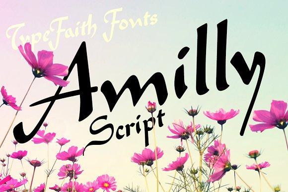 Amilly Script Font