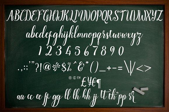 Angella script Font