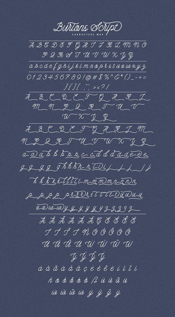 Burtons Script Font