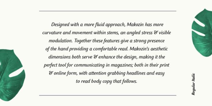 Makozin Font Family