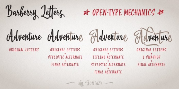 Barberry font family