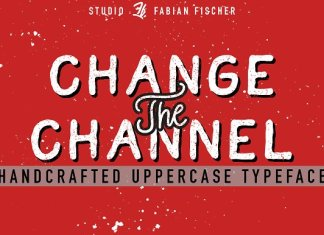 Change the Channel - Handmade Font