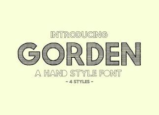 Gorden | A Hand Style Font