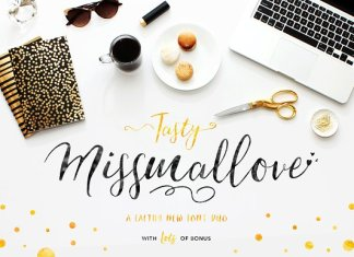 Its Tasty Missmallove Font Duo
