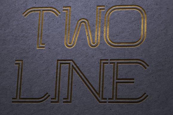 Twoline font two line symbols