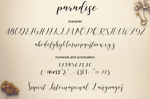 Paradise Calligraphy Font