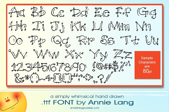 Annie's Wiggle Dots Font