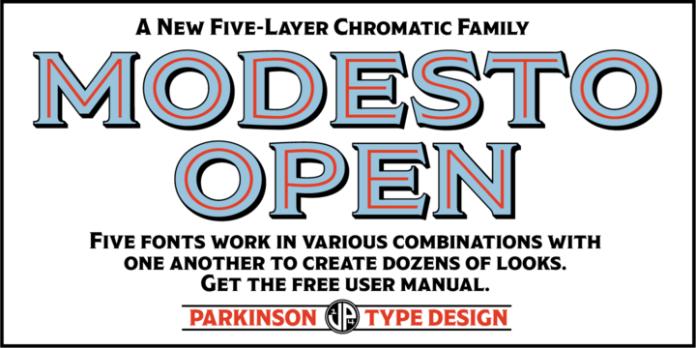Modesto Open Font Family