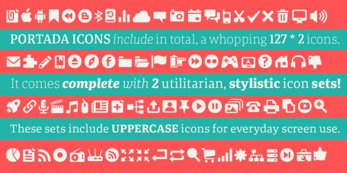 Portada serif font