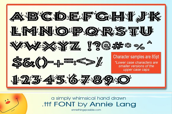 Annie's Birch Caps Font