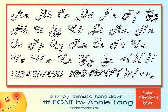 Annie's Loops Font