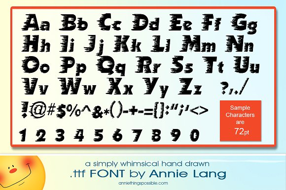 Annie's Windy Font