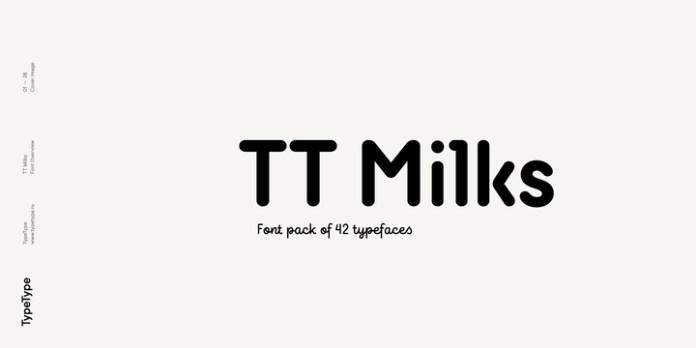 TT Milks Font Family