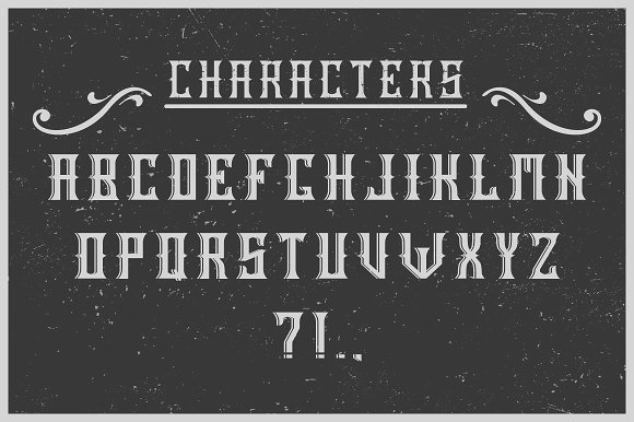 Handcrafted Old Cask label font