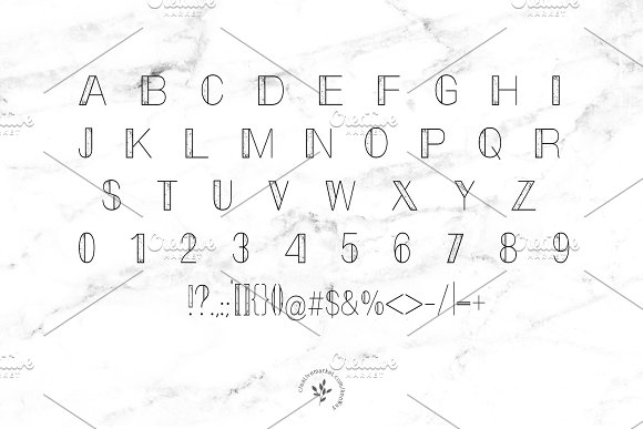 Marble Display Font