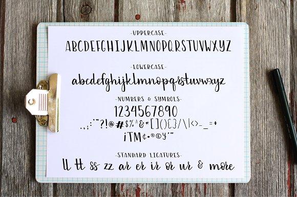 Slightly Sweet Hand Lettered Font
