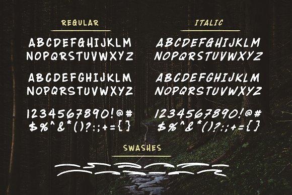 Wildwood Dry Brush Lettering Font