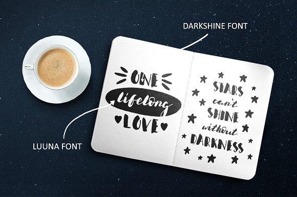 Darkshine Brush Font. Script.
