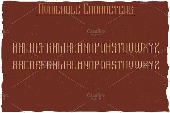 Stockport Label Typeface