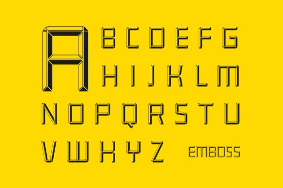 Construct family font