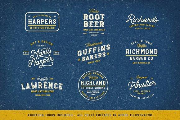 Explorers Logo & Font Collection