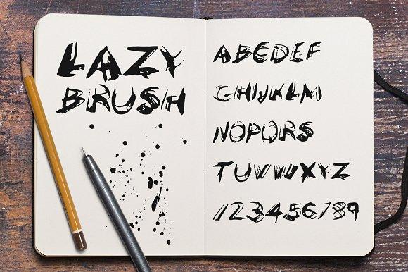 LazyBrush font