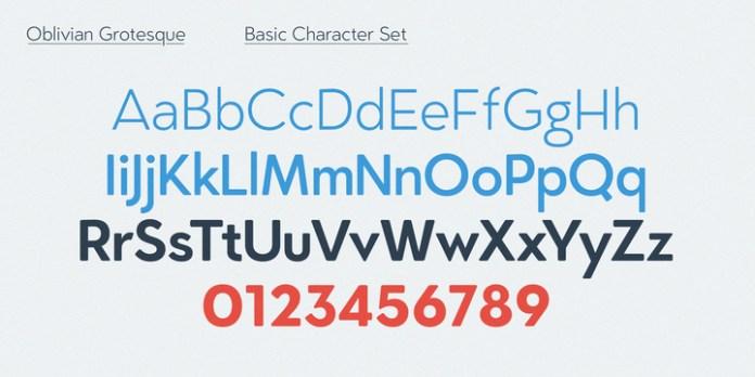 Oblivian Grotesque Font Family