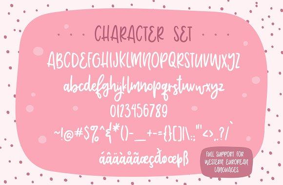 Adorbs, a monoline script font