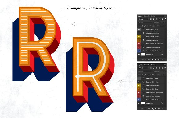 Sevastian Layered Typefaces