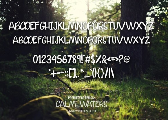 Calm Waters Typeface