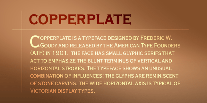 Copperplate Font Family