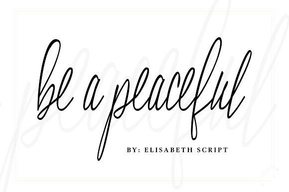 Elisabeth Script Font