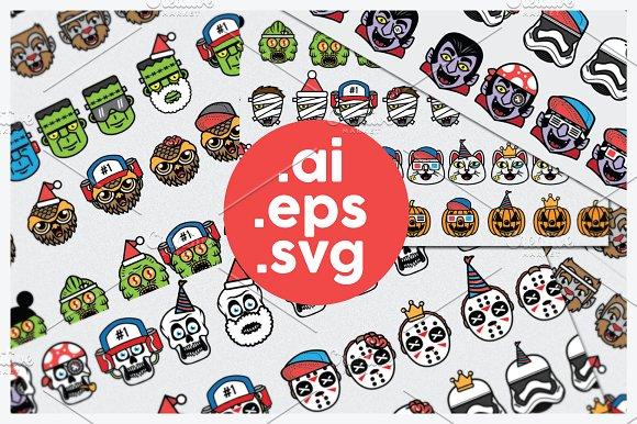 Halloween Avatars + Free Font