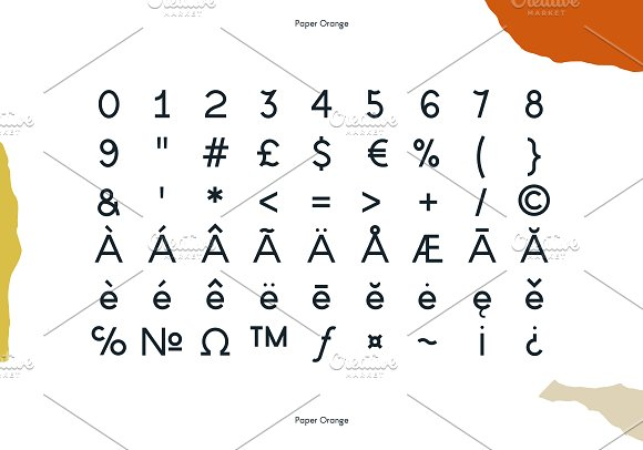 Paper Orange Font Family