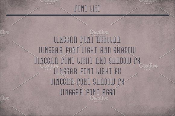 Vinegar Vintage Label Typeface