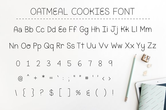 Oatmeal Cookies Font - Intro SALE!