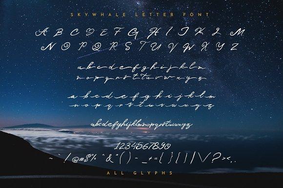 Skywhale Letter Font