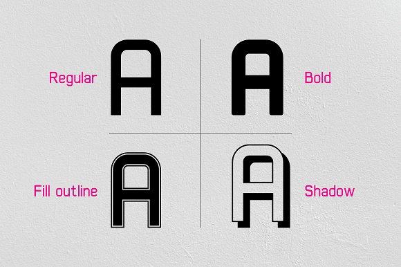 Xelo - 4 Style Font